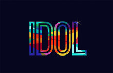 Idol Word Typography Design In...