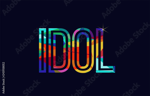 Obraz idol word typography design in rainbow colors logo - fototapety do salonu