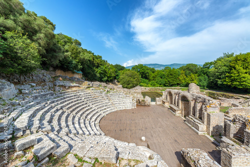 Ancient Theater in Butrint, Albania Canvas Print