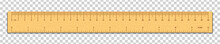Realistic Wooden Tape Ruler Is...