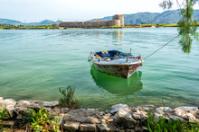 Boat And Castle In Butrint, Al...