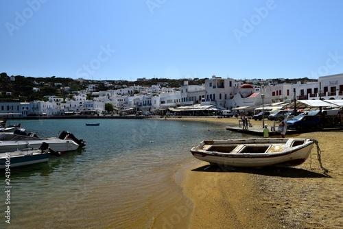 Fotografia, Obraz  Pleasure craft in the harbour of Mykonos