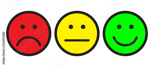 Cuadros en Lienzo Red, yellow and green smileys