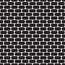 Seamless Pattern With Ovals. Brick Wall.