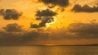 Timelapse of Heavenly Sunset at Tropical Beach in Okinawa -Zoom Out-