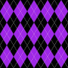 Argyle Plaid In Proton Purple Colors
