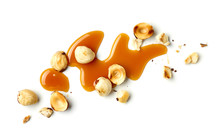 Hazelnuts And Caramel Sauce