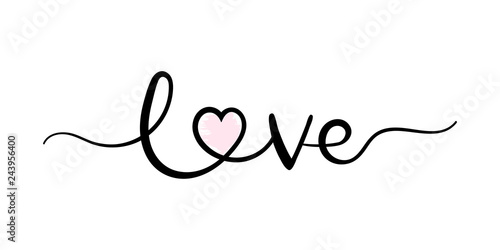 Fotografía  Love, handwriting lettering
