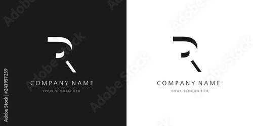 Photo  R logo letter design