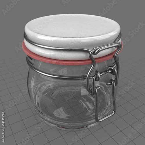 Small lock jar  Buy this stock 3d asset and explore similar