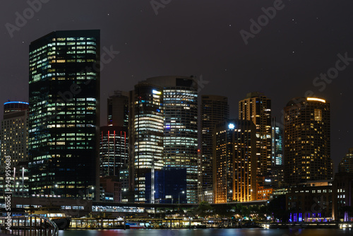 Beautiful skyline city of Sydney close to Opera harbor downtonw Canvas Print