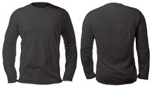 Black Long Sleeved Shirt Design Template