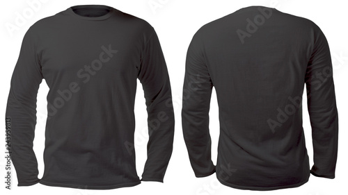 Fényképezés  Black Long Sleeved Shirt Design Template