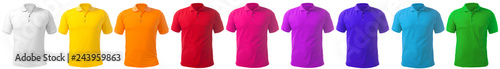 Obraz Collared Shirt Design Template in Many Color - fototapety do salonu