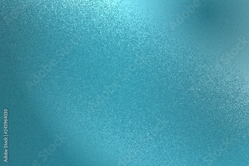 Fotografía  Glowing teal metal wall texture, abstract pattern background