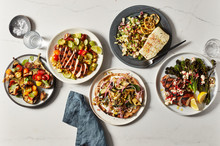 5 Plates Of Healthy Meals
