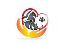 Logo Heart Of Pets Veterinary Business Card