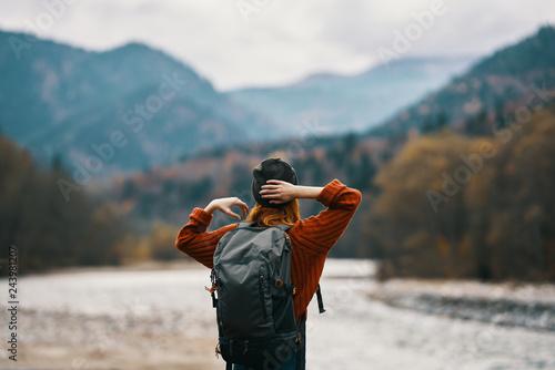 Obraz Nature Travel Woman Autumn Trip - fototapety do salonu