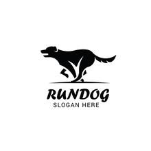 Running Dog Logo Template Isol...