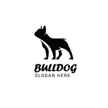 French Bulldog Logo Template I...