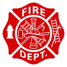 Fire Department Emblem St Flor...