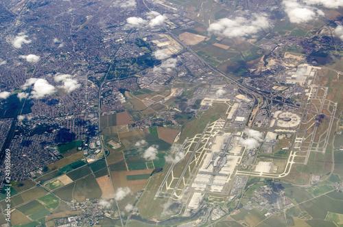 Fotografie, Obraz  Charles de Gaulle airport, aerial view
