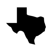 Texas Map Vector Logo.