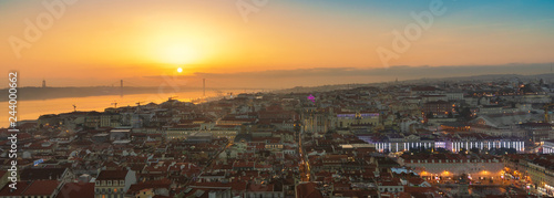 Panorama of Lisbon by Golden Hour
