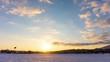 美しい日没 タイムラプス 雪景色 冬 4K UHD