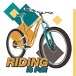 cycling vector poster - Vector