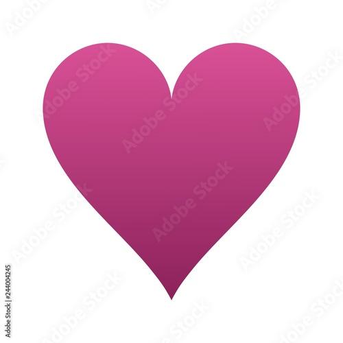 Fotografie, Obraz  Cute Heart icon