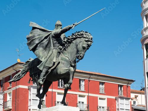 Statue of Rodrigo Diaz de Vivar, El Cid, in Burgos.