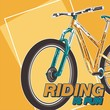 Bicycle slogan graphic for t-shirt, vectors. - Vector