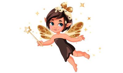 Cute little chocolate vanilla fairy