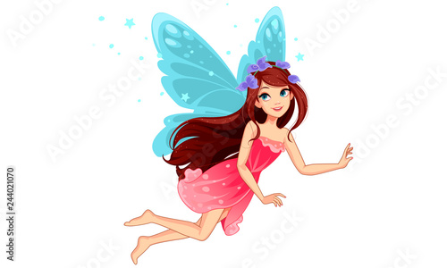 Fotografia, Obraz Beautiful Fairy Flying