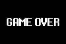 Game Over Pixel Background