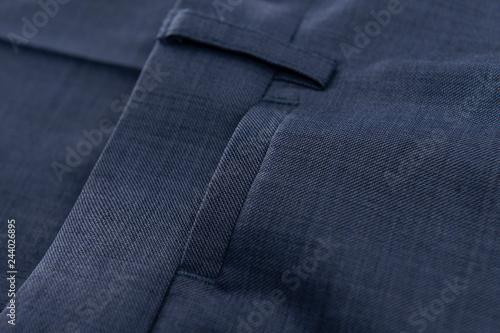 Fotografia, Obraz Detalle costura textil, pantalón