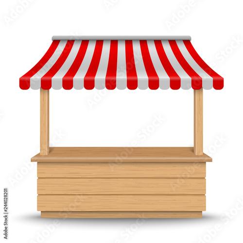 Fotografia Wooden market stand stall