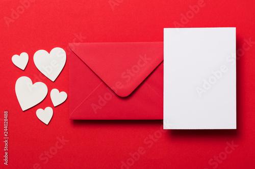 Fotomural Valentine's day love letter mockup