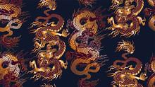 Pattern Of Asian Dragon. Vecto...