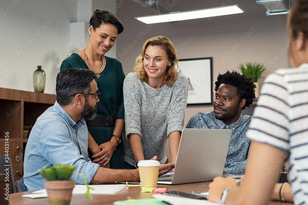 Fototapeta Creative business people working together