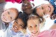 Leinwanddruck Bild - Multiethnic children in a circle