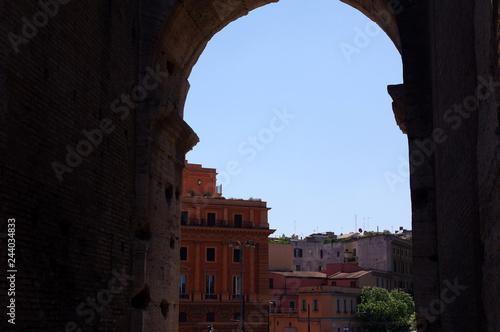 vue sur Rome depuis le Colisée Tableau sur Toile