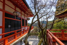 Exterior View Of A Temple Outside Kyoto, Japan.
