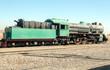 Train wagons in the Wadi Rum desert in Jordan