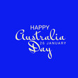 canvas print picture - illustration of a Background for Happy Australia Day.