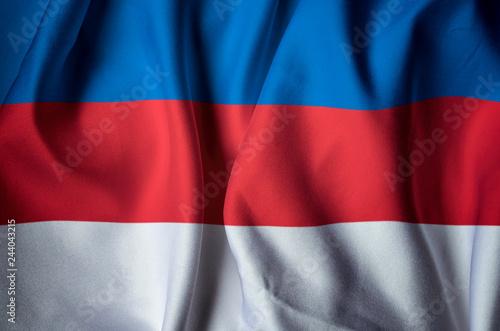 Fotografia  Flag of Russia. National pride and identity concept.