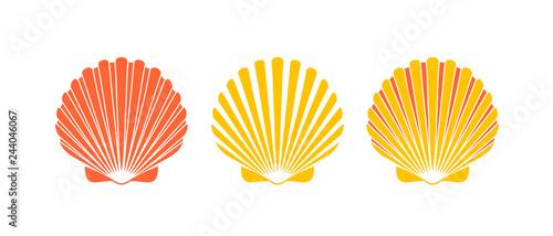 Fotografie, Obraz Scallop logo. Isolated scallop  on white background