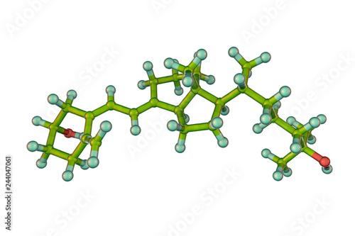 Calcidiol molecule, also called calcifediol, major circulating