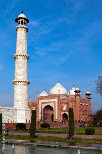 Deurstickers Asia land Mosque in the territory Taj Mahal, Indiaia